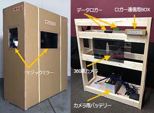 3社が共同制作した、実証実験用の輸送家具