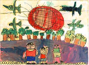 <環境大臣賞>鹿児島県 持田 勇信さん(2年生)「ぼくとなか間たち」